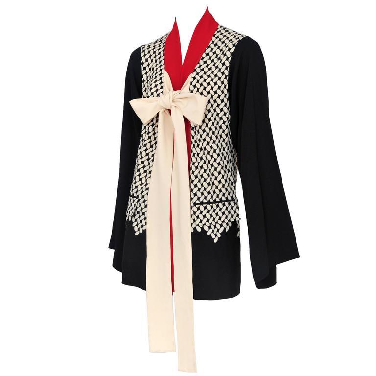Gaultier Printed Kimono Jacket  For Sale