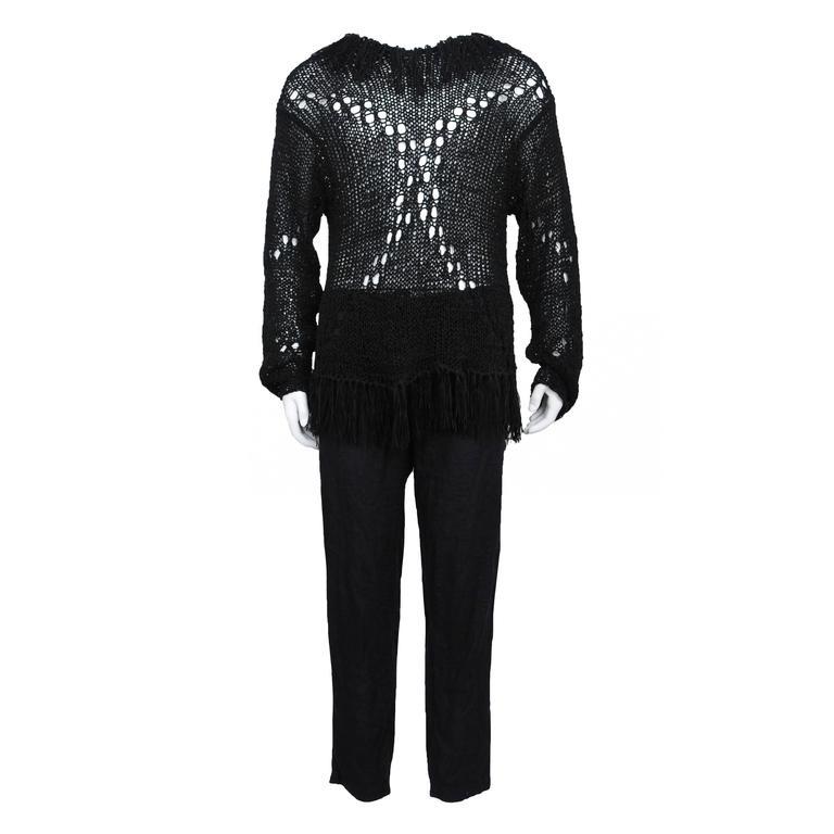 Yohji Yamamoto Black Fringe Sweater
