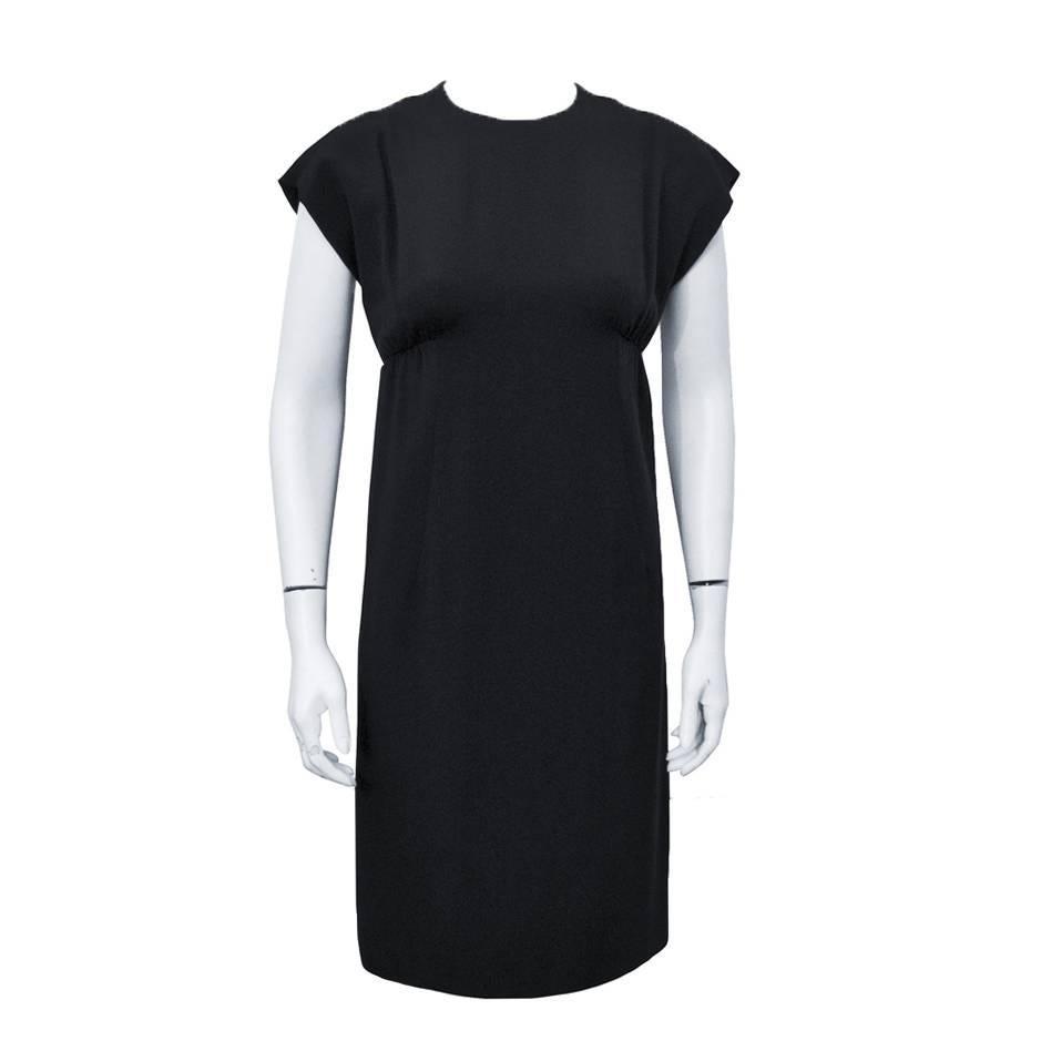 1960's Geoffrey Beene Black Silk Cocktail Dress