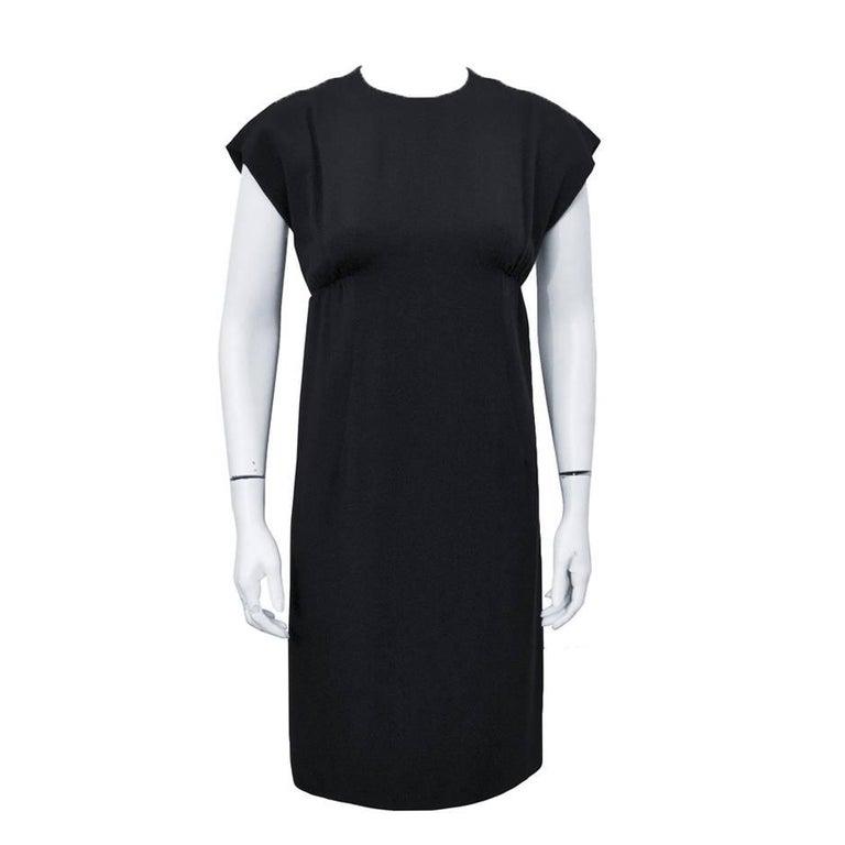 1960's Geoffrey Beene Black Silk Cocktail Dress  For Sale