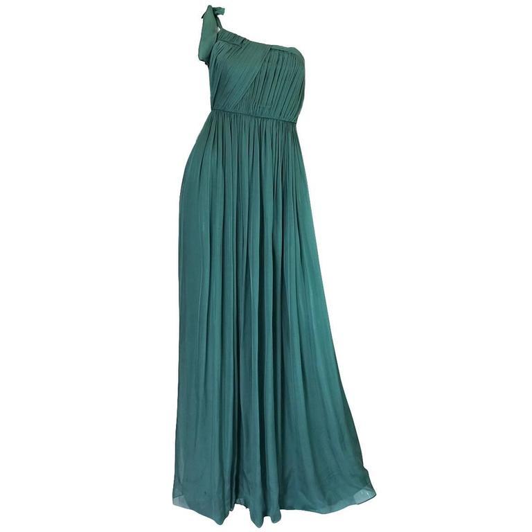 Pre-Fall 2008 Stella McCartney One Shoulder Silk Chiffon Dress 1