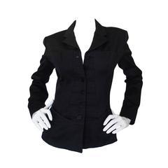 "1992 Museum Held Azzedine Alaia Black ""Corset"" Jacket"