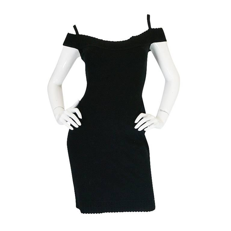 Spring 1992 Collection Azzedine Alaia Off Shoulder Dress For Sale