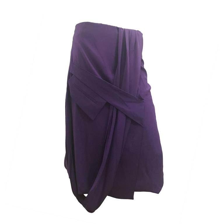 2000s Gianfranco Ferre Purple Skirt For Sale