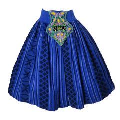 1950s Portuguese Folk Costume Vintage Skirt Amor Beaded Embroidered Apron