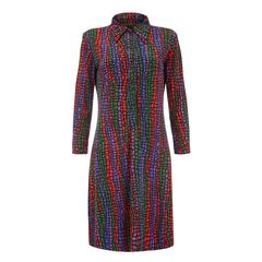 1970s Vintage Leonard Colourful Jersey Dress