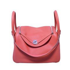 Hermes Rose Jaipur Clemence Leather Lindy Bag Nwot