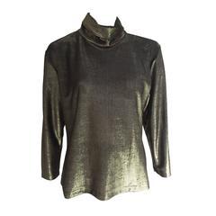 Pierre Cardin Gold Blouse Size 4 / 6.
