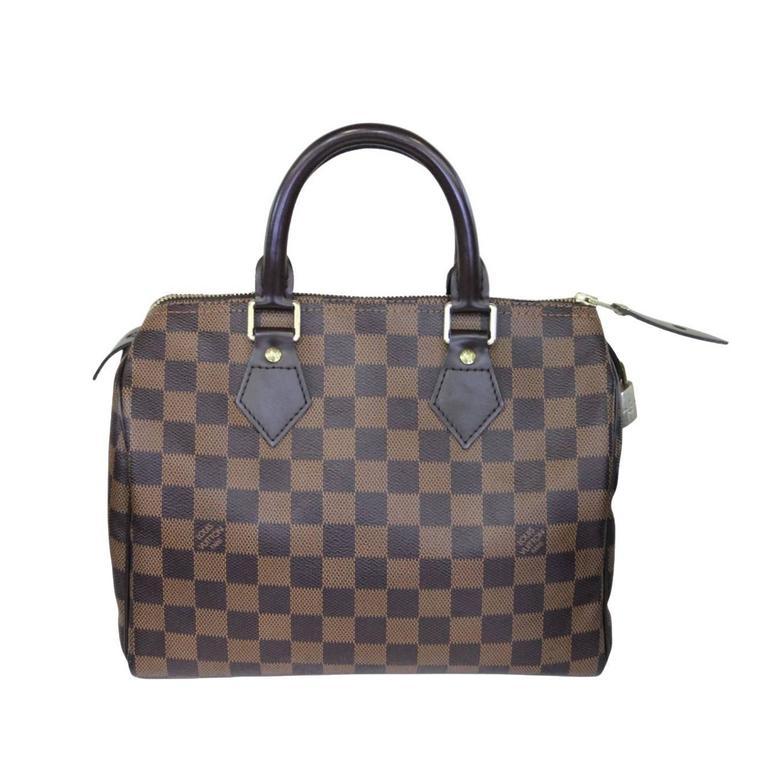 0fbed2692fa8 Louis Vuitton Speedy 25 Damier Ebene Handbag in Box at 1stdibs