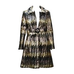 1970s Naman Plastic Overlay Sequin Raincoat