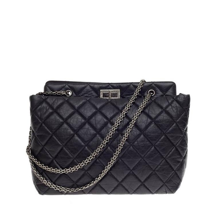 a787e970db5e3c Chanel Reissue 2.55 Shopping Tote Aged Quilted Calfskin at 1stdibs