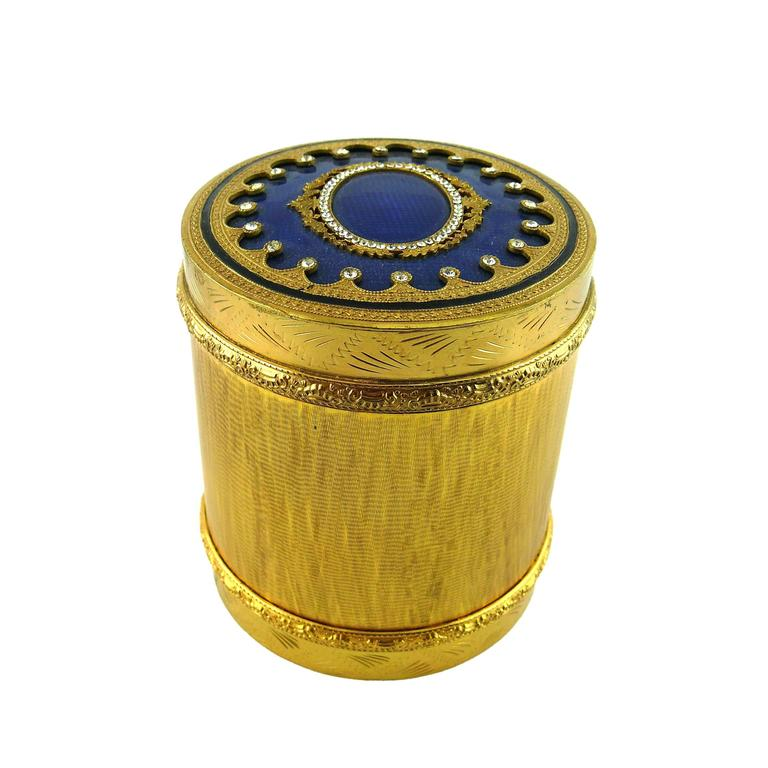 Christian Dior Jewelled Bronze and Blue Enamel Neo-Classical Style Box