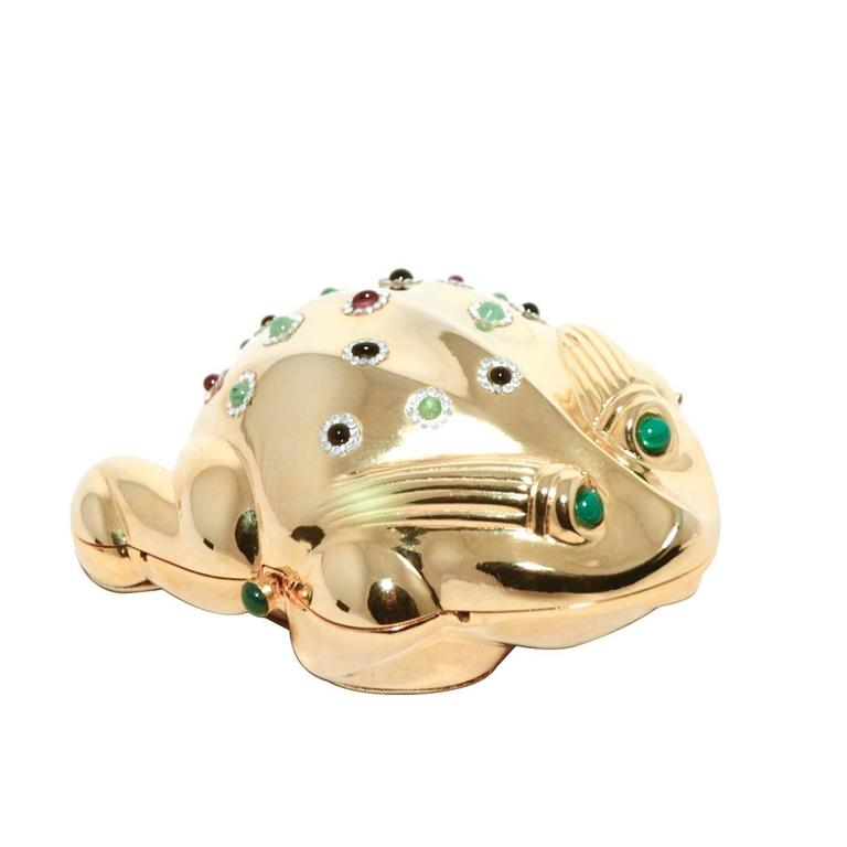 Judith Leiber Gold Frog Minaudiere 1