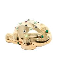 Judith Leiber Gold Frog Minaudiere