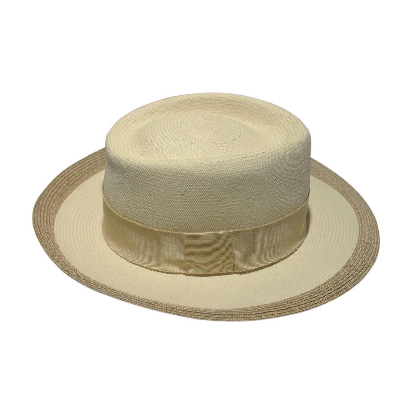 cheap hermes handbags - Hermes 100% Panama Straw Weave Hat at 1stdibs