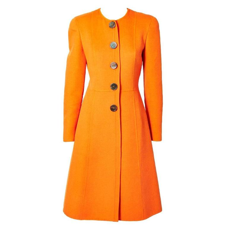 Valentino Double Face Wool Fitted Coat For Sale