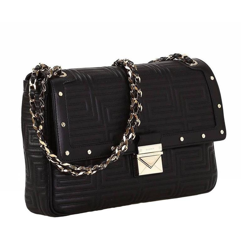 0722a5533e05 New GIANNI VERSACE COUTURE black quilted leather shoulder bag at 1stdibs