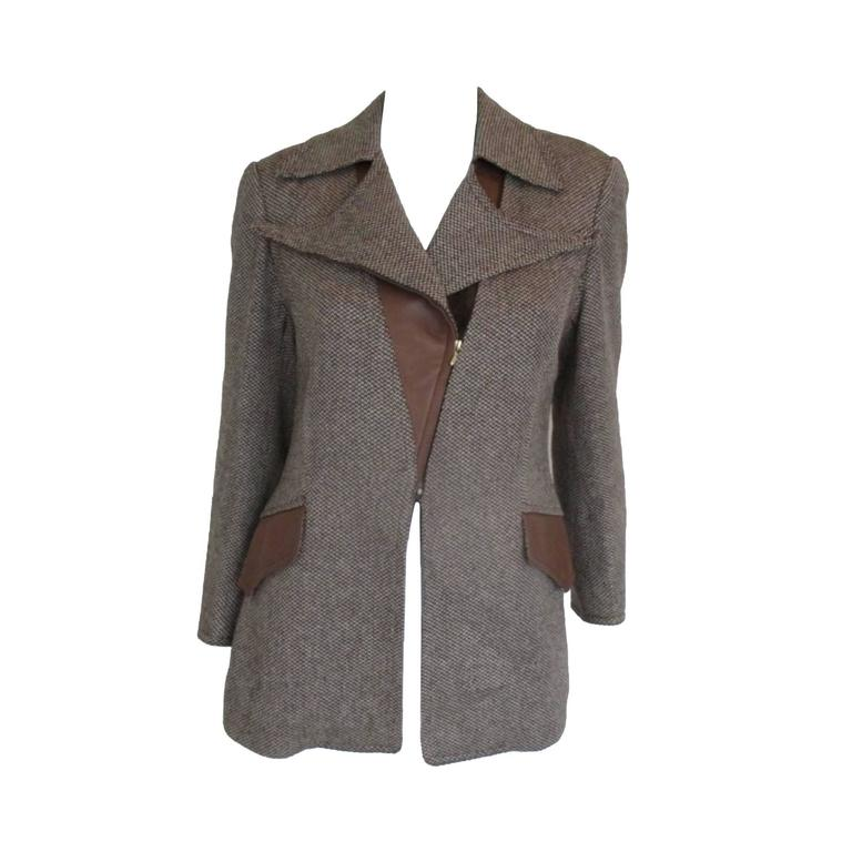 Hermes camel hair tweed blazer