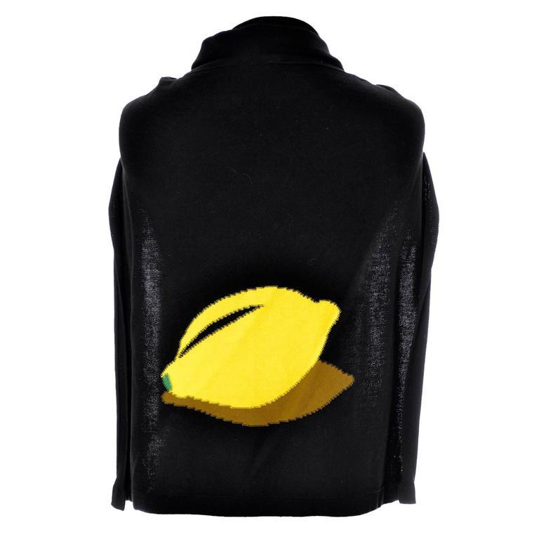 Sonia Rykiel Vintage Half Sweater Lemon Made in Italy 100% Cotton As New