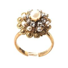 Miriam Haskell Flowerhead Cocktail Ring