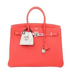 BRAND NEW Hermès Birkin Bag Togo Capucine PHW 35cm