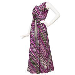 1970s Pierre Balmain Silk Dress