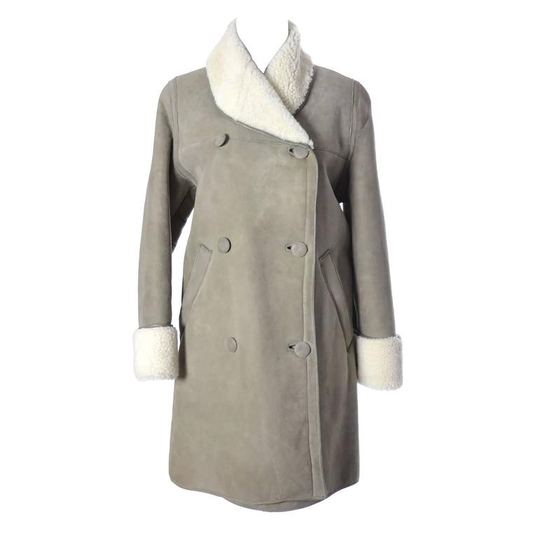 Sheep Skin Vintage Pea Coat 1960s Morlands Glastonbury England ...