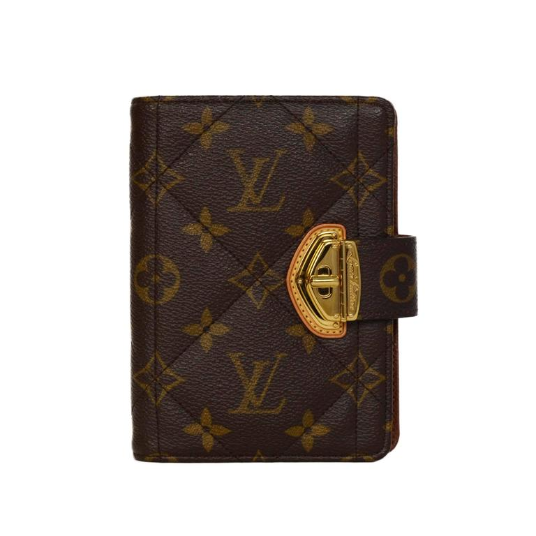Louis Vuitton Monogram Canvas Etoile Small Agenda Cover GHW 1