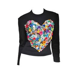 Iconic Patrick Kelly Button Heart Top