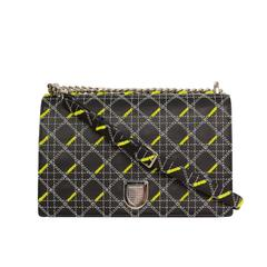 Christian Dior Black Quilted Diorama Large Flap Bag SHW rt. $6,300