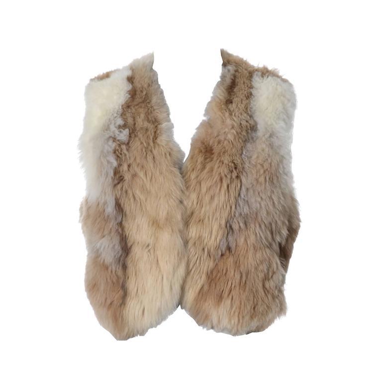 Vintage 1970s Alpaca Fur Vest Highlands Alpaca Furs Lined 1