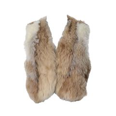 Vintage 1970s Alpaca Fur Vest Highlands Alpaca Furs Lined