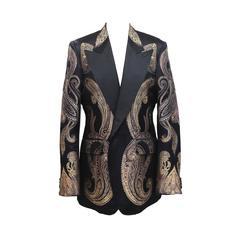 Exceptional Alexander McQueen Mens Silk Tuxedo Jacket c. 2008