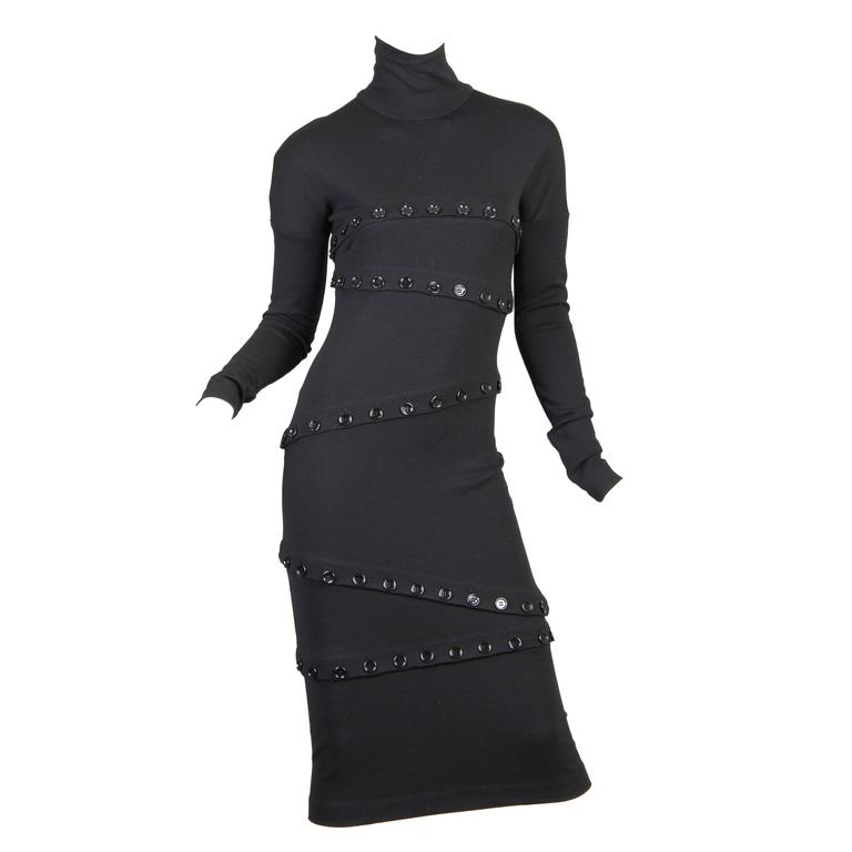 Dolce & Gabbana Black Button Dress