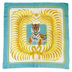 Vintage 1977 Hermes Tigre Royal Scarf by Christiane Vauzelles