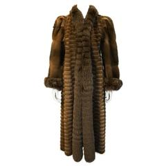 1980's Brown Mink Lightweight Reversible Coat