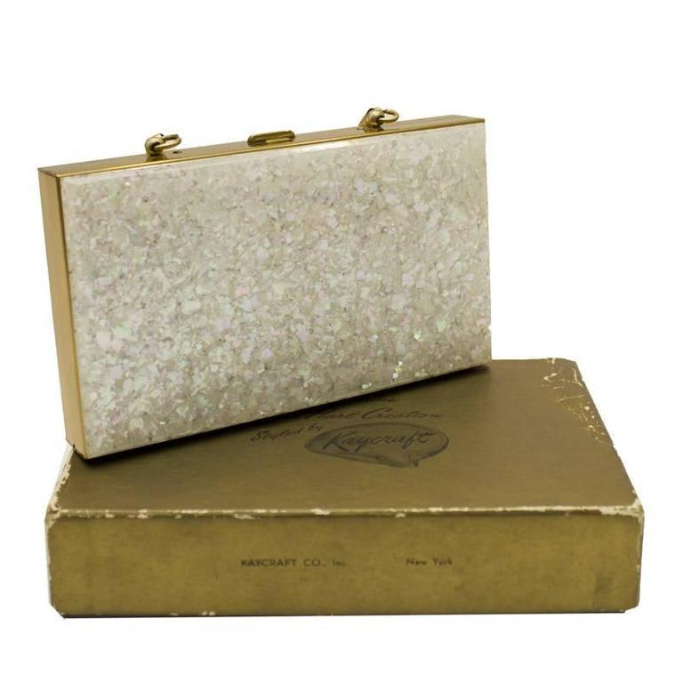 1stdibs 1950s Kay Craft Mother-of-pearl Minaudiere X0FgZ