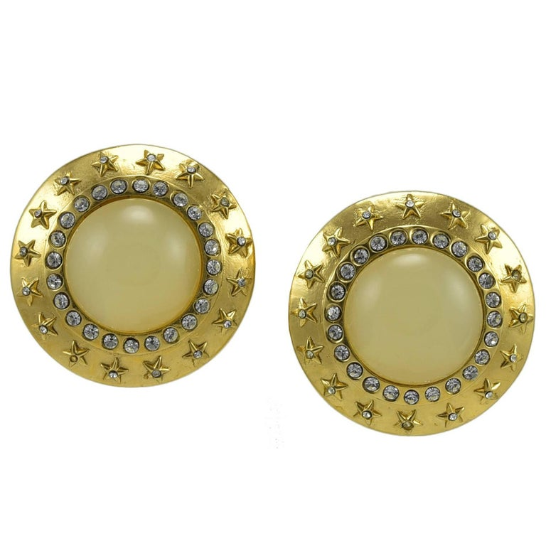 Fabulous Large Chanel Clip Earrings For