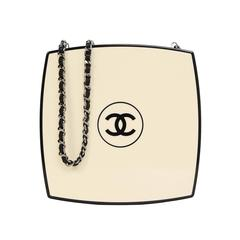 Chanel Rare 2015 Runway Beige & Black Compact Clutch Bag rt. $8,500