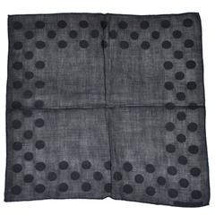 Givenchy Set of Navy Polka-Dot Linen Men's Hankerchief