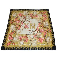 Iinngmel Large Floral Print Silk Scarf