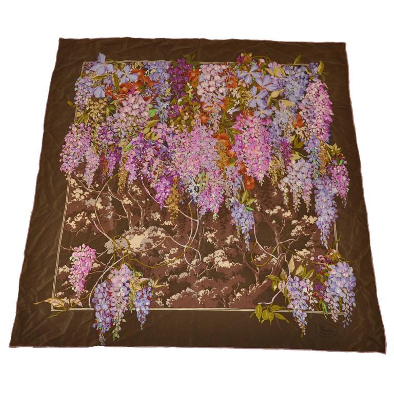 Gucci Multi-Color Floral Silk Scarf