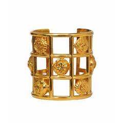Chanel Gold Grid Cuff