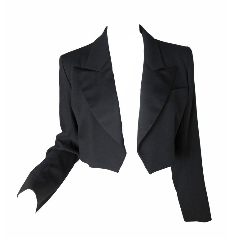 Yves Saint Laurent Cropped Tuxedo Jacket 1