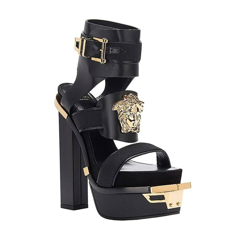 "New VERSACE ""Idol"" Platform Sandals 36 1"