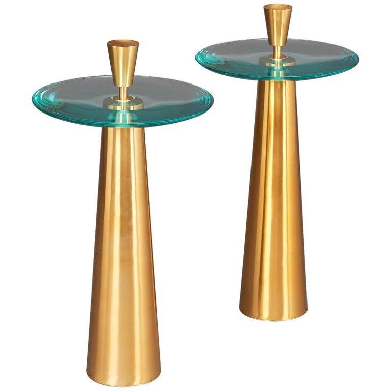 Limited Edition Pair of Roberto Rida Side Tables For Sale