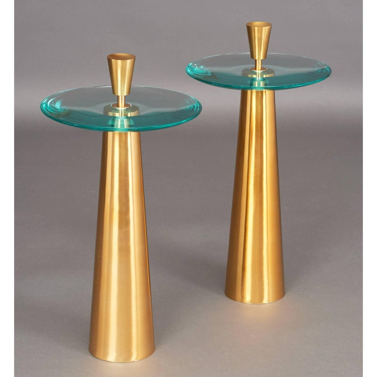 Contemporary Limited Edition Pair of Roberto Rida Side Tables For Sale