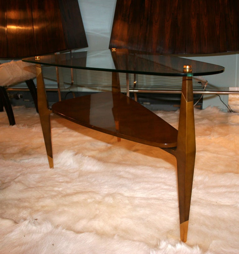 French Raphael Triangular Coffee Table For Sale