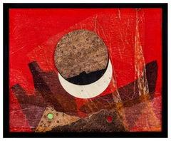 Spaces (cork). Roberto Crippa 20th Century Italian Abstract Painting