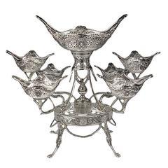 Sterling Silver Seven Basket Epergne